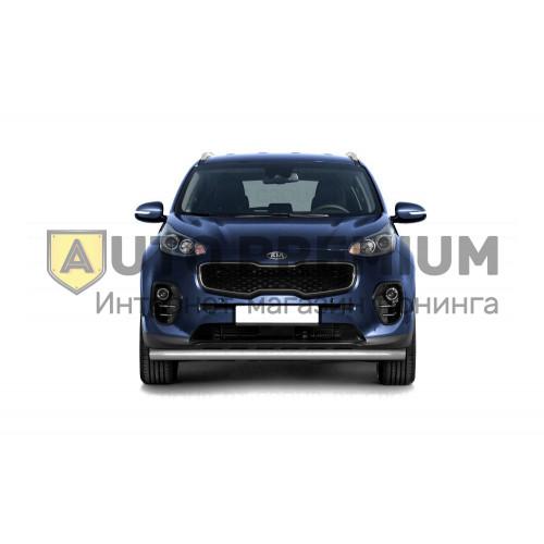 Защита переднего бампера одинарная Ø63мм (НПС) KIA Sportage 2016-